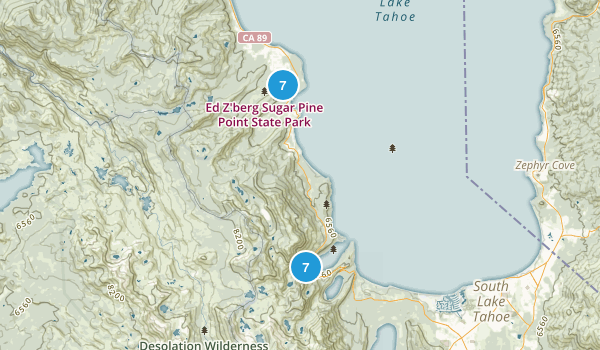 Tahoma, California Nature Trips Map