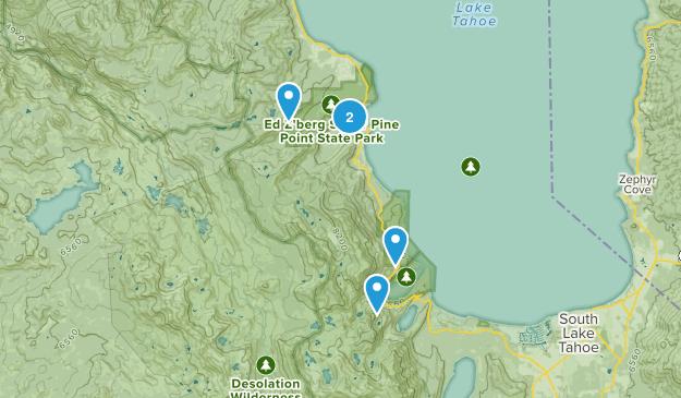 Tahoma, California Snowshoeing Map