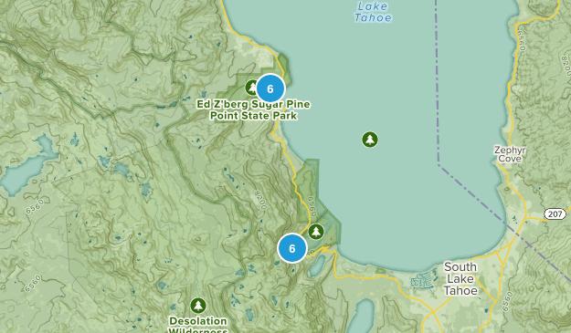 Tahoma, California Wild Flowers Map