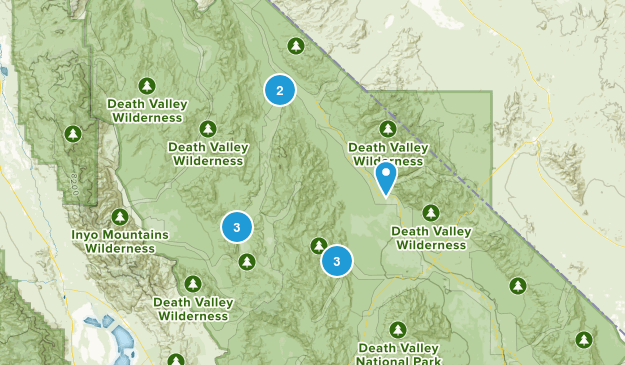 Teakettle Junction, California Hiking Map