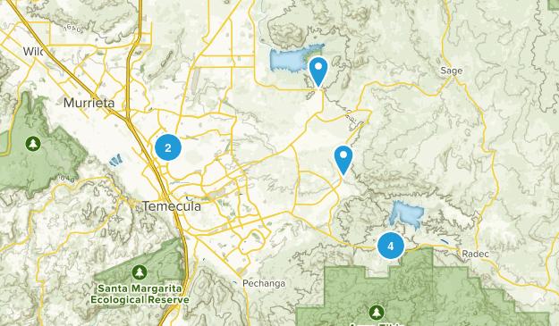 Temecula, California Nature Trips Map
