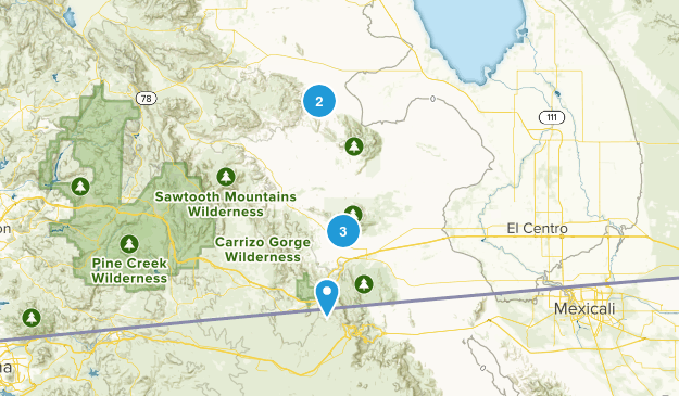 Thermal, California Hiking Map