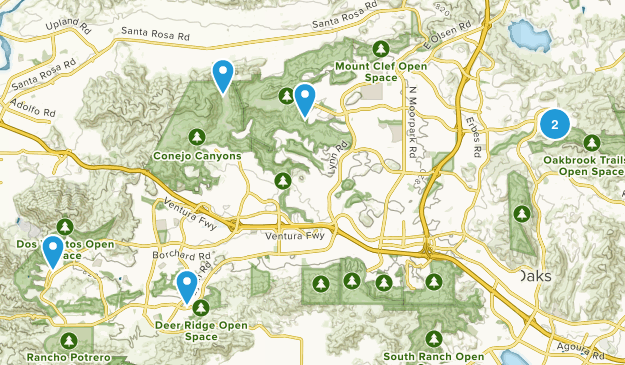 Thousand Oaks, California Forest Map