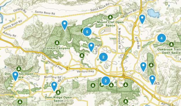 Thousand Oaks, California Nature Trips Map