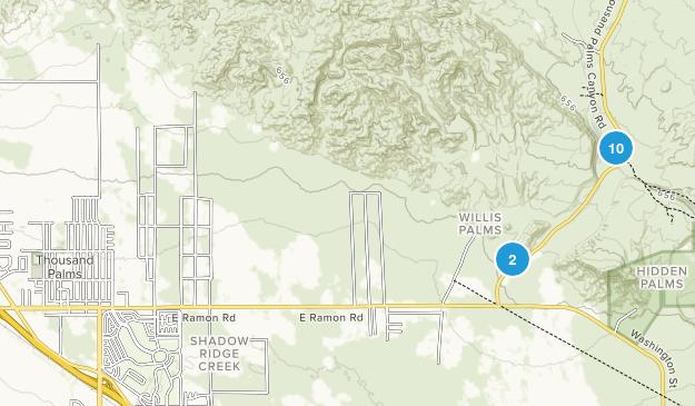 Thousand Palms, California Hiking Map