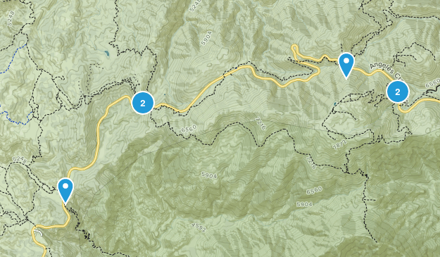 Three Points, California Hiking Map