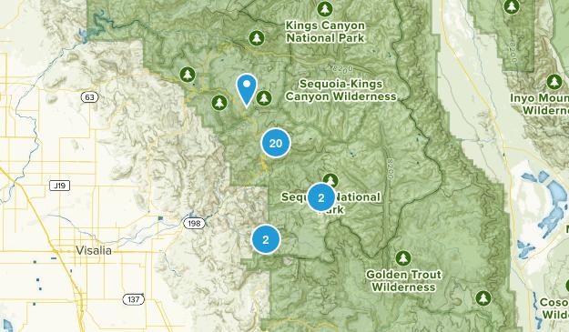 Three Rivers, California Backpacking Map