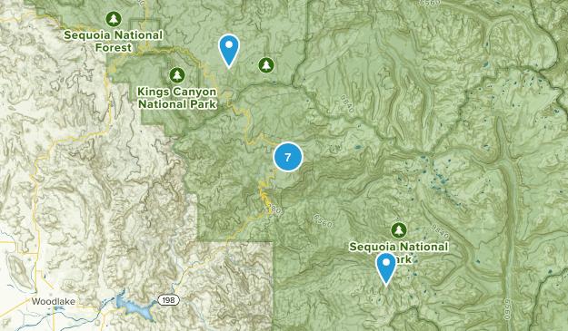 Three Rivers, California Fishing Map