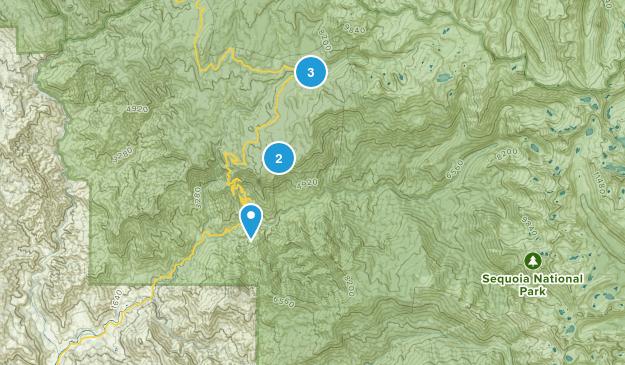 Three Rivers, California Horseback Riding Map