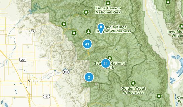 Three Rivers, California Nature Trips Map
