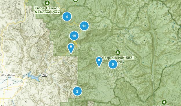 Three Rivers, California Walking Map