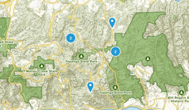 Topanga, California Mountain Biking Map