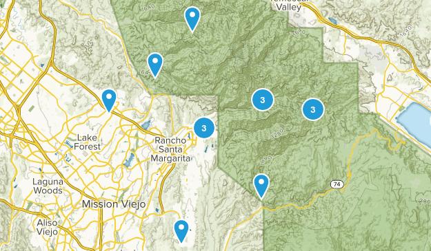 Trabuco Canyon, California Mountain Biking Map