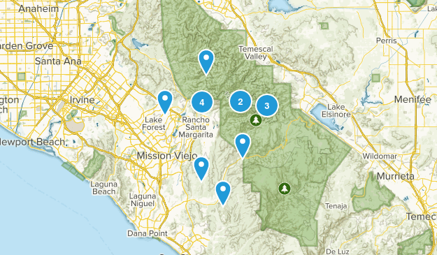 Trabuco Canyon, California Wild Flowers Map