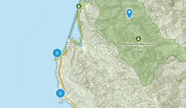 Trinidad, California Trail Running Map