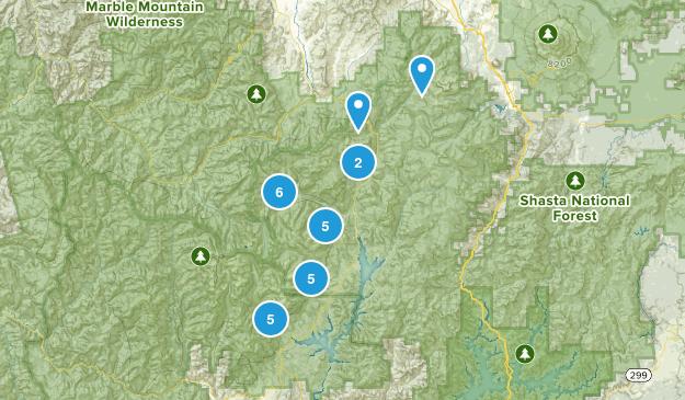 Trinity Center, California Camping Map