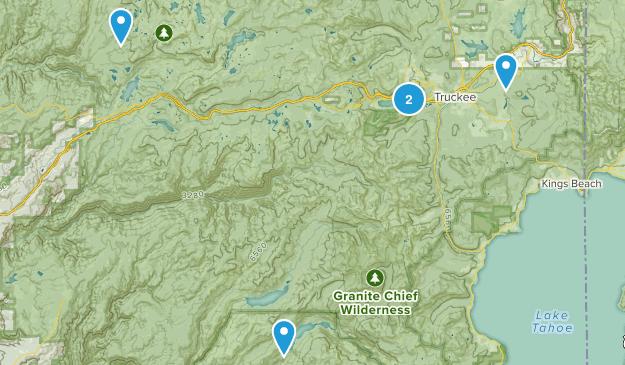 Truckee, California Fishing Map