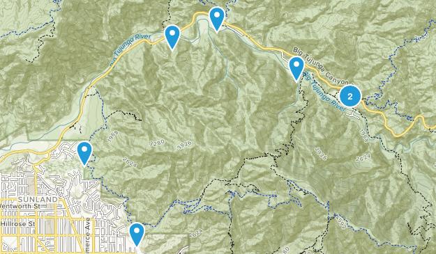 Tujunga, California Hiking Map