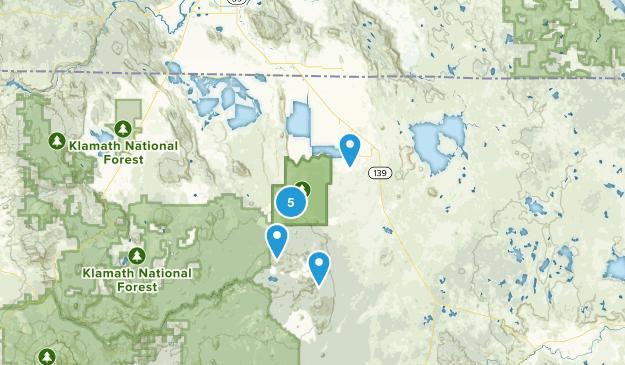 Tulelake, Kalifornien Bird Watching Map