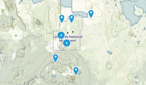 Tulelake, California Hiking Map
