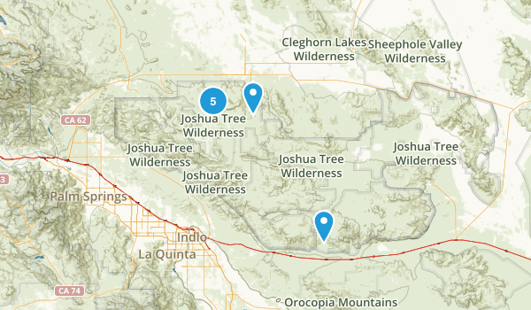 Twentynine Palms, California Camping Map