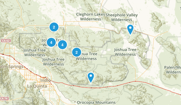 Twentynine Palms, California Trail Running Map