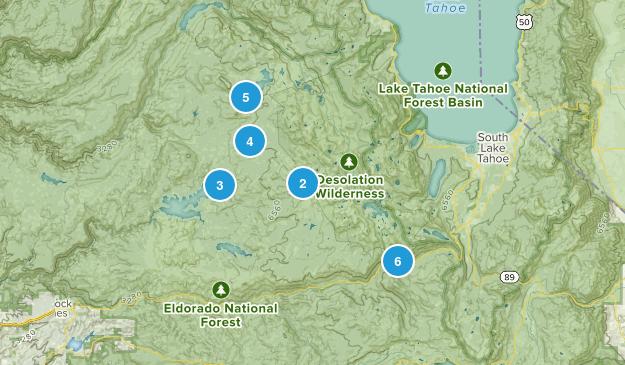 Twin Bridges, California Hiking Map