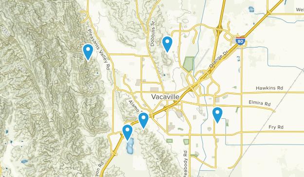 Vacaville, California Birding Map