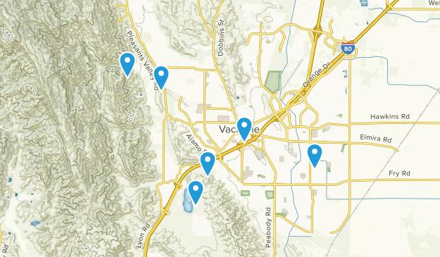 Vacaville, California Walking Map