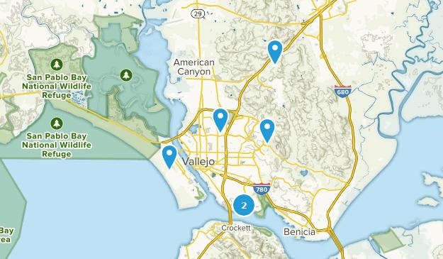 Vallejo, California Bird Watching Map