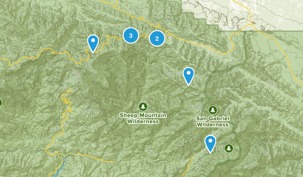 Valyermo, California Camping Map
