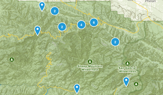 Valyermo, California Dogs On Leash Map