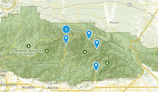Valyermo, California Mountain Biking Map