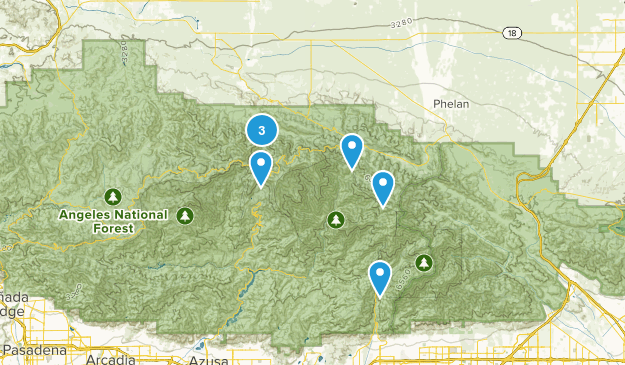 Valyermo, California Mountain Biking Map