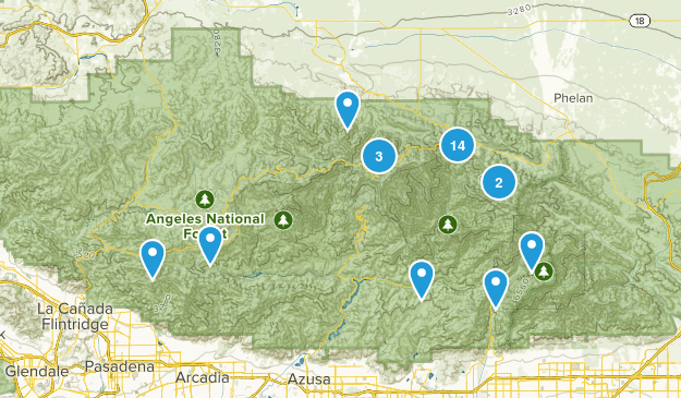 Valyermo, California Nature Trips Map