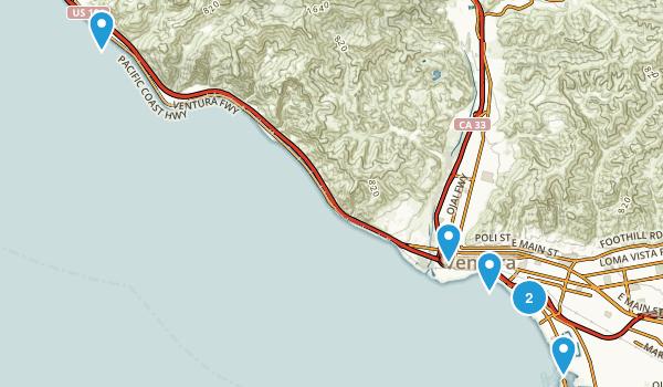 Ventura, California Beach Map