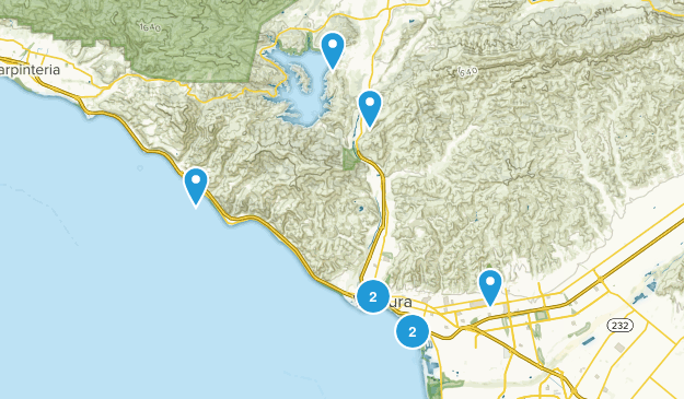 Ventura, California Dogs On Leash Map