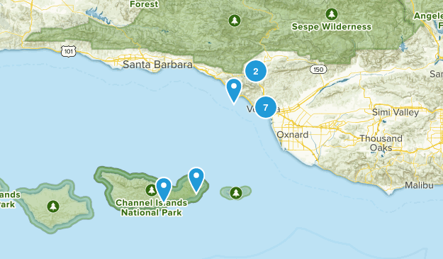 Ventura, California Hiking Map