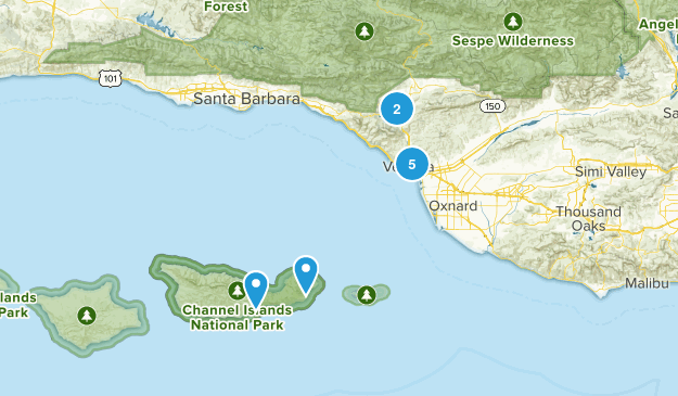 Ventura, California Nature Trips Map
