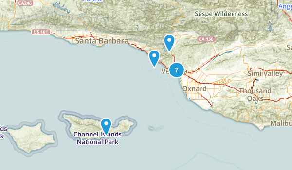 Ventura, California Walking Map