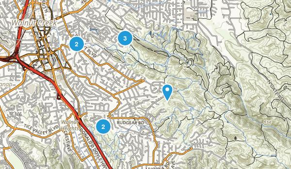 Walnut Creek, California Dog Friendly Map