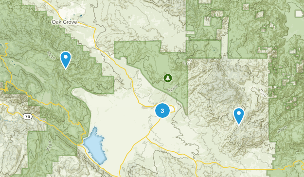 Warner Springs, California Walking Map