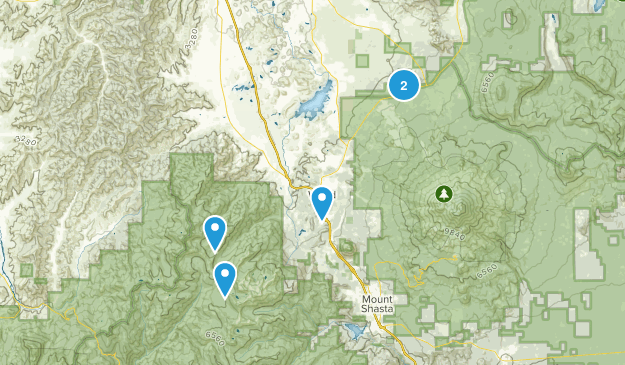 Weed, California Hiking Map