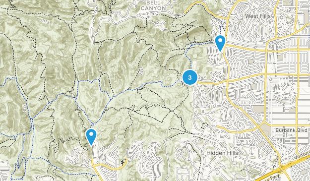 West Hills, California Wildlife Map