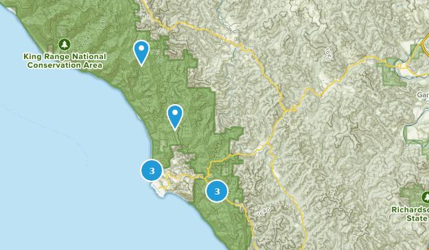 Whitethorn, Kalifornien Bird Watching Map