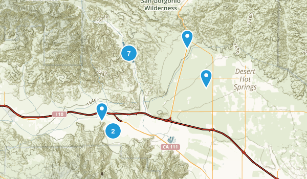 Whitewater, California Hiking Map