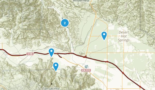 Whitewater, California Trail Running Map