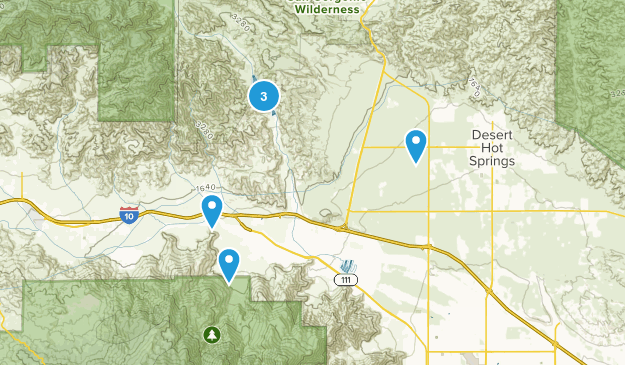 Whitewater, California Trail Running Map