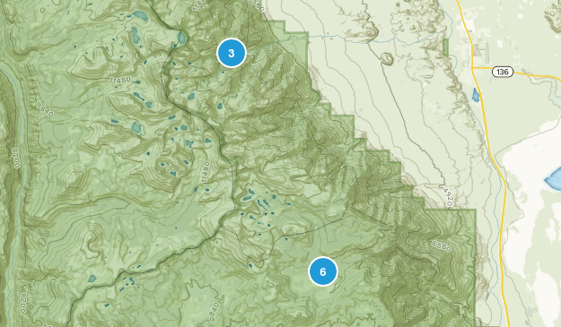 Whitney Portal, California Hiking Map