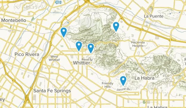 Whittier, California Birding Map